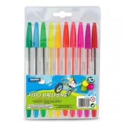 Długopisy fluorescencyjne 10 kol Lambo_gdm_L31W10_EAN_jpg.jpg