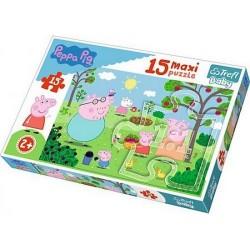 Puzzle Trefl 15el maxi Peppa Pig