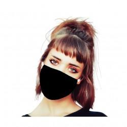 Maska ochronna wielokrotnego użytku z bawełny antybakteryjnej 4szt 20x13cm czarna