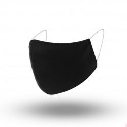 Maska ochronna wielokrotnego użytku czarna z bawełny antybakteryjnej 1 warstwowa 5szt TAKO