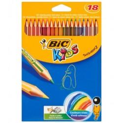 Kredki ołówkowe 18 kolorów Bic Kids Conte Tropicalis