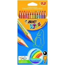 Kredki ołówkowe 12 kolorów Bic Kids Conte Tropicalis