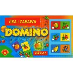 Gra edukacyjna domino obrazkowe owoce Alexander