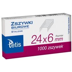 Zszywki Tetis 24/6 GZ101-A