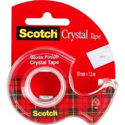 Taśma Scotch Crystal 19X7,5M na podajniku
