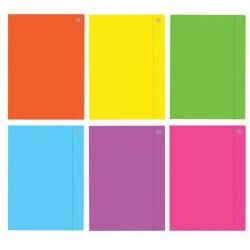 Teczka z gumką A4 Interdruk fluo kolor mix