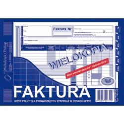 Faktura A 5 100-3E MP netto wielokopia