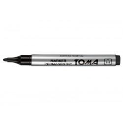 Marker Toma TO-090 czarny okrągły permanentny