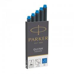 Naboje atramentowe Parker długie niebieskie zmywalne 5szt.