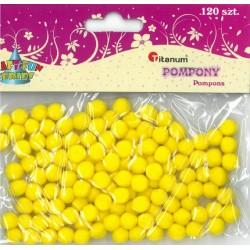 Pompony żółte 120szt Titanum