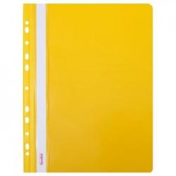 Skoroszyt plastikowy A4 twardy Biurfol żółty zawieszkowy