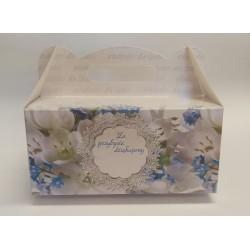 Pudełko kartonowe weselne składane