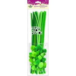 Zestaw drucik kreatywny pompony zielone Titanum 80szt