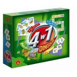 Gra Edukacyjna 4w1 Dinozaury Alexander