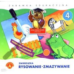 Gra Edukacyjna Alexander Rysowanie-zmazywanie 4 Zwierzątka