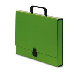 Teczka z rączką A4 4cm Pastello zielona